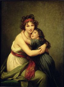 Madame Vigee-Lebrun and her Daughter von Elisabeth Louise Vigee-Lebrun
