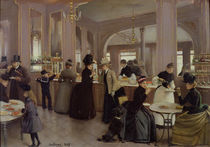 La Patisserie Gloppe, Champs Elysees by Jean Beraud