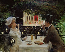 Dinner at Les Ambassadeurs by Jean Beraud