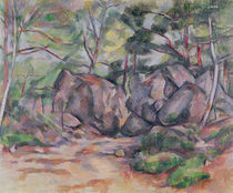 Woodland with Boulders, 1893 by Paul Cezanne