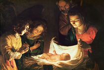 Adoration of the baby, c.1620 by Gerrit van Honthorst
