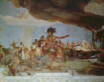 America, one of the Four Continents from the ceiling of the 'Treppenhaus' by Giovanni Battista Tiepolo