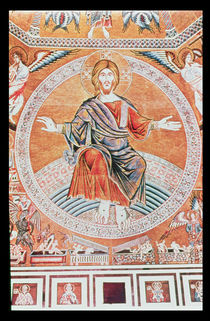 Reproduction of the mosaic of the Last Judgement in the Baptistery by Italian School