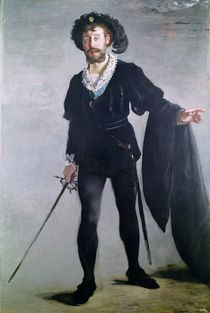 Jean Baptiste Faure as Hamlet by Edouard Manet
