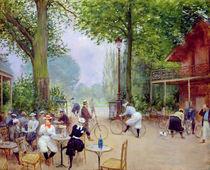The Chalet du Cycle in the Bois de Boulogne von Jean Beraud