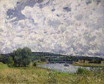 The Seine at Suresnes, 1877 von Alfred Sisley