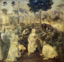 The Adoration of the Magi, 1481-2 by Leonardo Da Vinci