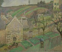 Hillside of the Hermitage, Pontoise, 1873 by Camille Pissarro