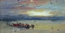 Shore Scene, Sunset von Joseph Mallord William Turner