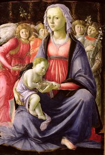 The Virgin and Child surrounded by Five Angels von Sandro Botticelli