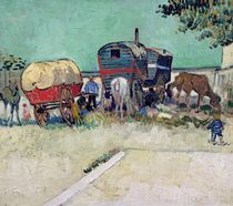 The Caravans, Gypsy Encampment near Arles by Vincent Van Gogh