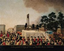 The Execution of Louis XVI 21 January 1793 by Danish School