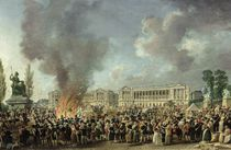 The Celebration of Unity, Destroying the Emblems of Monarchy by Pierre Antoine Demachy
