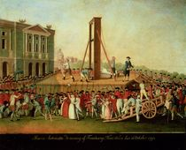 The Execution of Marie-Antoinette 16th Oct 1793 by Danish School