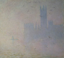 Seagulls over the Houses of Parliament by Claude Monet