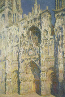 Rouen Cathedral in Full Sunlight: Harmony in Blue and Gold by Claude Monet