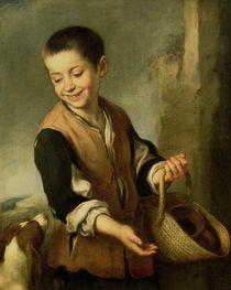 Boy with a Dog, c.1650 by Bartolome Esteban Murillo