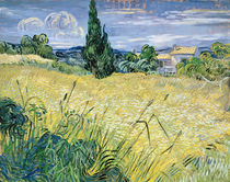 Green Wheatfield with Cypress by Vincent Van Gogh