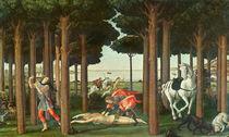 The Disembowelment of the Woman Pursued: Scene II of The Story of Nastagio degli Onesti von Sandro Botticelli