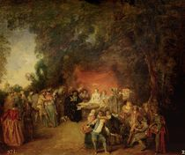 The Marriage Contract, c.1712-13 von Jean Antoine Watteau