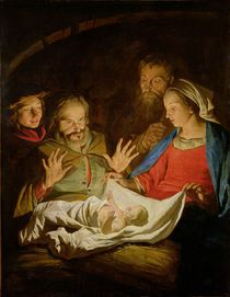 The Adoration of the Shepherds by Matthias Stomer
