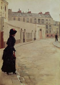 Waiting, Rue de Chateaubriand by Jean Beraud