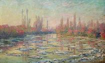 The Thaw on the Seine, near Vetheuil von Claude Monet