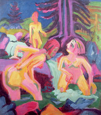 Three Bathers in a Stream by Ernst Ludwig Kirchner