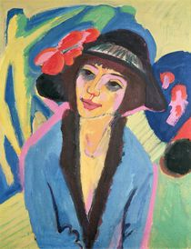 Portrait of Gerda by Ernst Ludwig Kirchner