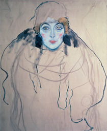 Head of a Woman, 1917 by Gustav Klimt