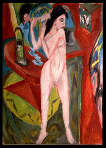 Nude Woman Combing Her Hair by Ernst Ludwig Kirchner