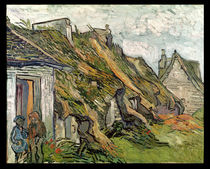 Thatched Cottages in Chaponval by Vincent Van Gogh