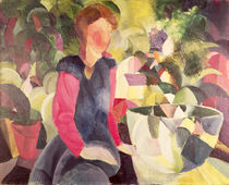 Girl with a Fish Bowl, 20th century by August Macke