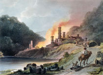 Iron Works, Coalbrookdale, engraved by William Pickett, c.1805 von Philippe de Loutherbourg