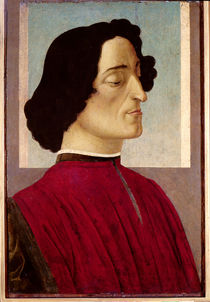 Portrait of Giuliano de' Medici c.1480 by Sandro Botticelli