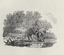 A Rider Distracted by a Flock of Birds von Thomas Bewick