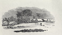 Approaching a Village in the Winter von Thomas Bewick