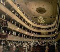 The Auditorium of the Old Castle Theatre von Gustav Klimt