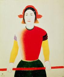 Girl with a Pole by Kazimir Severinovich Malevich