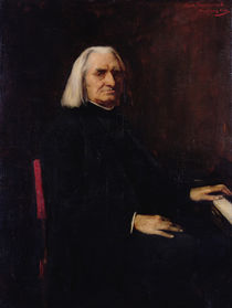 Portrait of Franz Liszt 1886 by Mihaly Munkacsy