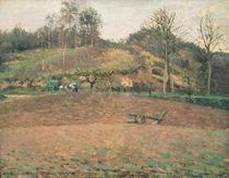 Ploughland, 1874 by Camille Pissarro