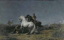 The Horse Thieves, 19th century by Ferdinand Victor Eugene Delacroix