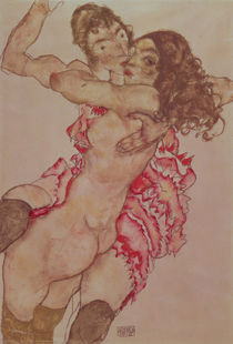 Two Women Embracing, 1915 by Egon Schiele