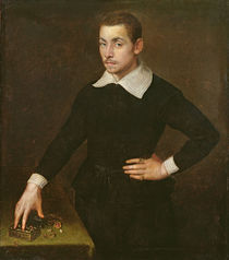 Portrait of a Young Florentine Goldsmith by Agnolo Bronzino