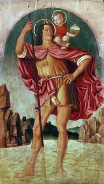 St. Christopher by Filippo Mazzola or Mazzola dell'Erbette