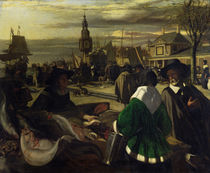 Market in the Hague, c.1660 by Emanuel de Witte