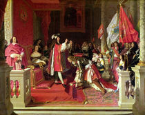 Philip V of Spain making Marshal James Fitzjames by Jean Auguste Dominique Ingres