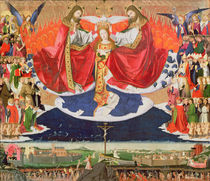 The Coronation of the Virgin by Enguerrand Quarton