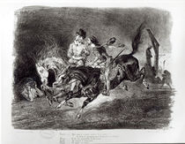Mephistopheles and Faust riding in the Night von Ferdinand Victor Eugene Delacroix