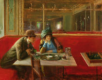 At the Cafe by Jean Beraud